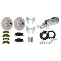 """Tie Down Engineering 9.6"""" G5 Series Single Axle Disc Brake Kit - 5 on 4 1/2"""" - Stainless Steel Rotors"""