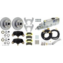 "Tie Down Engineering 9.6"" Single Axle Disc Brake Kit - 5 on 4 1/2"" - Galv-X Coated Rotors"