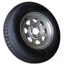 "205/75D15, Galvanized, 1,820 lb. Capacity, 5 on 4 1/2"", ""C"" Load Rating"