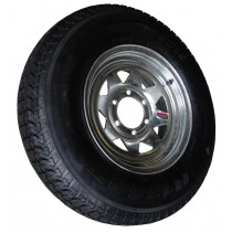 "225/75D15, Galvanized, 2,540 lb. Capacity, 6 on 5 1/2"", ""D"" Load Rating"
