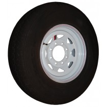 "235/80R16, Painted, 3,520 lb. Capacity, 8 on 6 1/2"", ""E"" Load Rating"