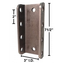 "7 1/2"" Long 4-Hole Channel - 3"" I.D. - 14,000 lbs. Capacity"
