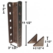 "11 1/2"" Long 6-Hole Channel with Gussets - 3"" I.D. - 14,000 lbs. Capacity"