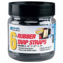 "Tarp Strap Assortment - 6 pc. - (2) 15"", (2) 21"", (2) 31"""