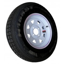 "175/80D13, Painted, 1,360 lb. Capacity, 4 on 4"", ""C"" Load Rating"