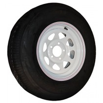 "205/75R14, Painted, 1,760 lb. Capacity, 5 on 4 1/2"", ""C"" Load Rating"