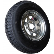 "225/75D15, Galvanized, 2,540 lb. Capacity, 5 on 4 1/2"", ""D"" Load Rating"