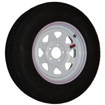 "205/75R15, Painted, 1,820 lb. Capacity, 5 on 4 1/2"", ""C"" Load Rating"