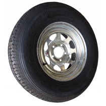 "215/75R14, Galvanized, 1,870 lb. Capacity, 5 on 4 1/2"", ""C"" Load Rating"