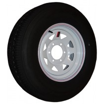 "225/75R15, Painted, 2,540 lb. Capacity, 6 on 5 1/2"", ""D"" Load Rating"