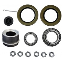 "1 1/4"" x 1 3/4"" Bearing Kit with L25580 and L15123 Bearings, GS11 and GS15 Grease Seals, 4LN Lug Nuts, and Lube Dust Cap"