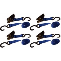 "4 piece Blue 1"" x 6' Ratchet Strap"