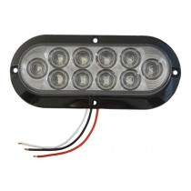 """6"""" Clear Oval Tail Light - 10 LEDs"""