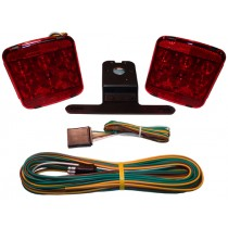 "Submersible LED Light Kit for Trailers Under 80"" Wide with 20' Wire Harness - No Marker Lights"