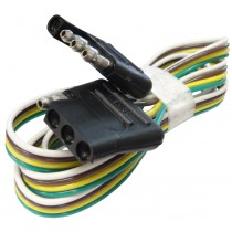 """48""""  Wire Harness - 4-Way Flat Connector - Car and Trailer End Loop"""