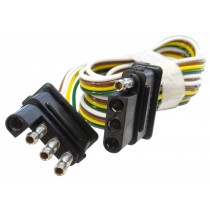 """60"""" Wire Harness - 4-Way Flat Connector - Car and Trailer End Loop"""