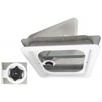 "Ventline Ventadome #V2092 White Roof Vent 14"" with Pop-out Screen & Knob"