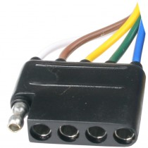 """72"""" Wire Harness - 5-Way Flat Car End Connector - 72"""" Ground Wire - 72"""" Auxiliary Wire"""