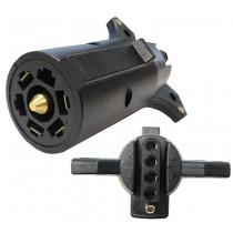7-Way Flat Pin to 5-Way Flat Connector Adapter - Center Pin is Backup