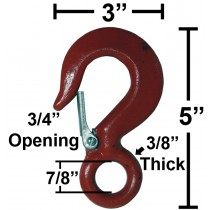 "Snap Hook with 7/8"" Eye"