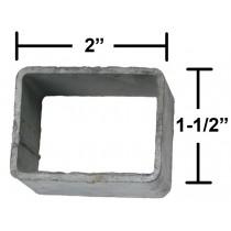 """Rear Hanger Bracket for 1 3/4"""" Trailer Slipper Spring - Galvanized - Box Shape"""