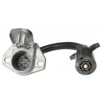 7-Way Flat Pin to 7-Way Round Pin Connector Adapter