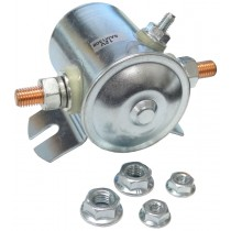 Solenoid -12 Volt Continuous - Positive to Activate - Steel Case with Slots