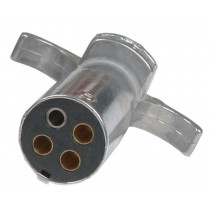 4-Way Round Metal Trailer Wiring Connector - Trailer End