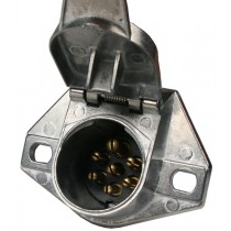 7-Way Metal Round Trailer Wiring Connector - Car End