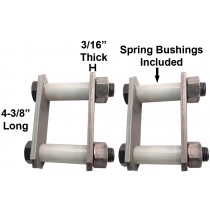 "Trailer Shackle Repair Kit (Both Sides) For 1 3/4"" Wide Springs Shackles 4 3/8"" Long For Single Axle Trailers"