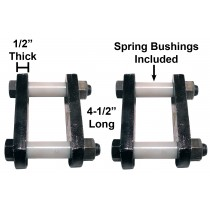 "Heavy Duty Trailer Shackle Repair Kit (Both Sides) For 1 3/4"" Wide Springs Shackles 4 1/2"" Long For Single Axle Trailers"