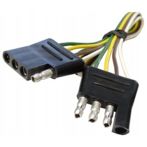 """12"""" Wire Harness - 4-Way Flat Connector - Car and Trailer End Loop"""