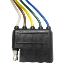 """12"""" Wire Harness - 5-Way Flat Connector - Car and Trailer End Loop"""
