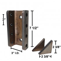 "7 1/2"" Long 4-Hole Channel with Gussets - 3"" I.D. - 20,000 lbs. Capacity"