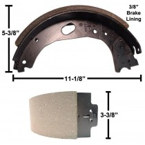 "Dexter® Brake Shoe and Lining Kit for 12 1/4"" x 3 3/8"" Stamped Backing Plate Electric Brake - Left Hand (Driver's Side) - 8,000 to 10,000 lbs. GD"