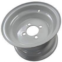 "10"" x 6"" Wide Painted Trailer Rim with 4 Lugs on 4"" Bolt Circle"