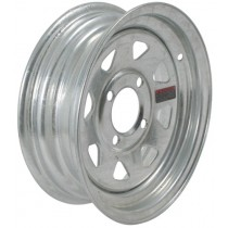 """12"""" x 4"""" Wide Galvanized Trailer Rim with 4 Lugs on 4"""" Bolt Circle"""