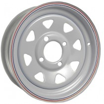 "12"" x 4"" Wide Painted Trailer Rim with 4 Lugs on 4"" Bolt Circle"
