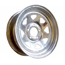"""14"""" x 5 1/2"""" Wide Galvanized Trailer Rim with 5 Lugs on 4 1/2"""" Bolt Circle"""