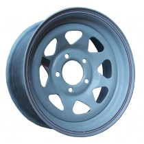 "14"" x 5 1/2"" Wide Painted Trailer Rim with 5 Lugs on 4 1/2"" Bolt Circle"