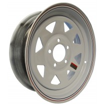 "15"" x 5"" Wide Painted Trailer Rim with 5 Lugs on 4 3/4"" Bolt Circle"