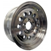 "15"" x 6"" Wide Aluminum Trailer Rim with 5 Lugs on 4 1/2"" Bolt Circle"