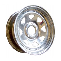 """15"""" x 6"""" Wide Galvanized Trailer Rim with 5 Lugs on 4 1/2"""" Bolt Circle"""