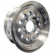 "15"" x 6"" Wide Aluminum Trailer Rim with 6 Lugs on 5 1/2"" Bolt Circle"
