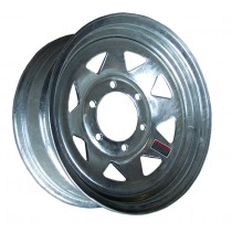 """15"""" x 6"""" Wide Galvanized Trailer Rim with 6 Lugs on 5 1/2"""" Bolt Circle"""
