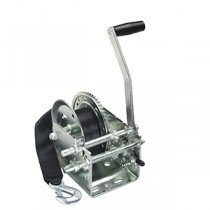 """Fulton 2,600 lbs. Two Speed Hand Winch with 20' Strap - 10"""" Handle"""