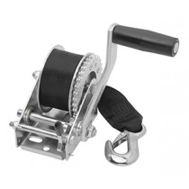 """Fulton 900 lbs. Single Speed Hand Winch with 15' Strap - 7"""" Handle"""