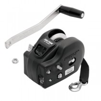 """Fulton 2,600 lbs. Two Speed Hand Winch with 20' Strap - 6 1/4"""" Handle"""