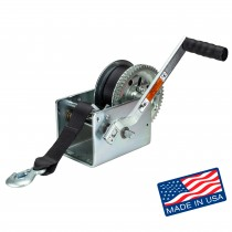"""Dutton-Lainson 2,500 lbs. Two Speed Hand Winch with 25' Strap - 10"""" Handle"""