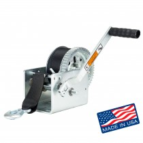 """Dutton-Lainson 3,200 lbs. Two Speed Hand Winch with 25' Strap - 10"""" Handle"""
